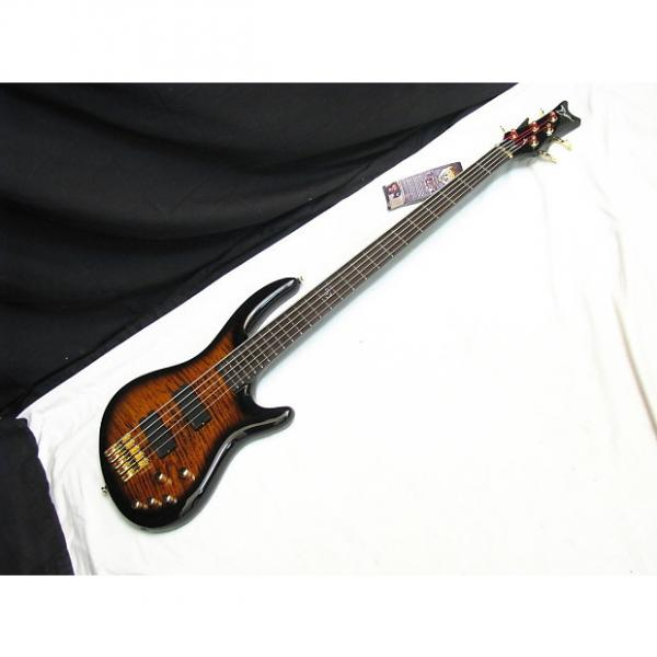 Custom DEAN Edge Pro 5-string BASS guitar Tiger Eye NEW - Flame Maple #1 image