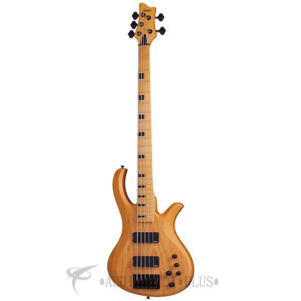 Custom Schecter Riot-5 Session Maple Fretboard Bass Guitar Aged Natural Satin - 2853 - 81544708034 #1 image