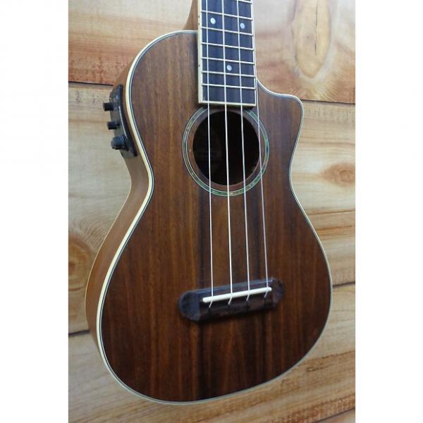 Custom Fender® Mino'Aka Koa Concert Acoustic Electric Ukulele Natural Satin #1 image