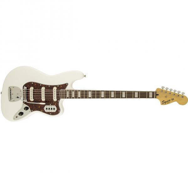 Custom Fender Squier VM Bass VI Electric Guitar Rosewood Fretboard White #1 image