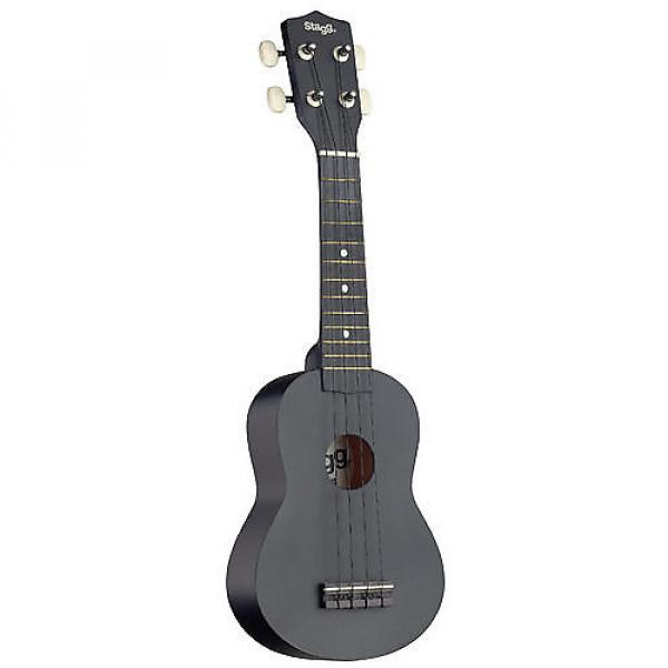 Custom Stagg Graphic Black Soprano Ukulele US-NIGHT #1 image