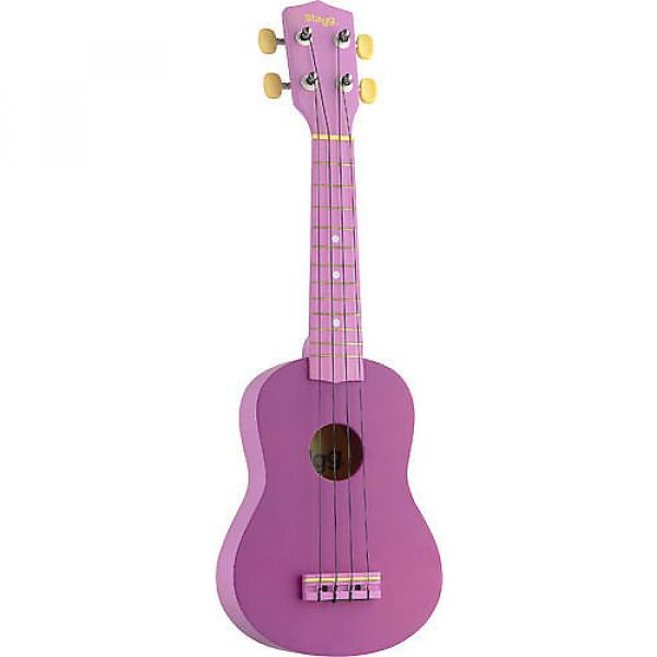 Custom Stagg Graphic Purple Soprano Ukulele US-VIOLET #1 image
