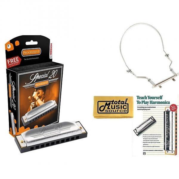 Custom HOHNER Special 20 Harmonica, Key F, Germany, Diatonic, Includes Case, Book, & Harmonica Holder, 560BL-F COMP #1 image