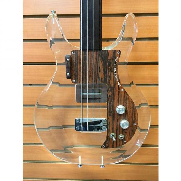 Custom Ampeg Fretless Dan Armstrong Lucite Bass #1 image