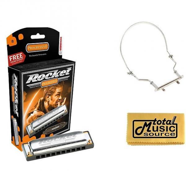 Custom Hohner Rocket Harmonica Boxed Key of B, Case & Harmonica Holder, M2013BX-B PACK #1 image