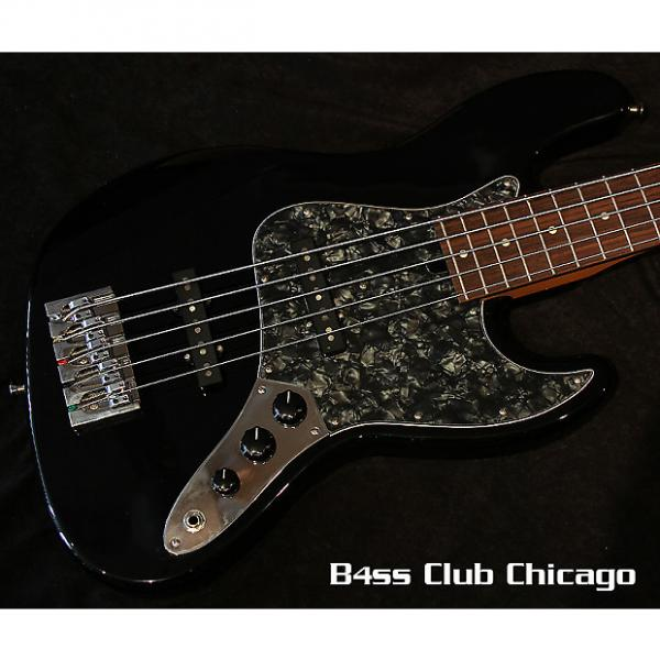 Custom Mike Lull V5 Black and Matching Headstock #1 image