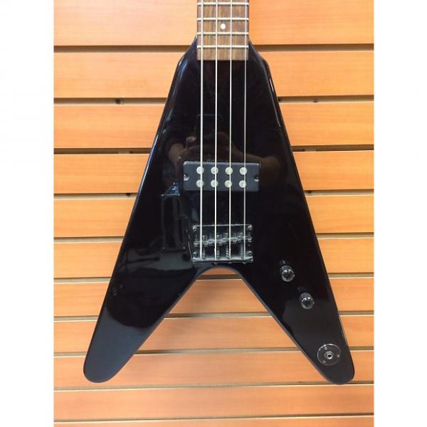 Custom Dean Flying V Bass Black #1 image