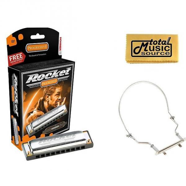 Custom Hohner Rocket Harmonica Boxed Key of EF, Case & Harmonica Holder, M2013BX-EF PACK #1 image