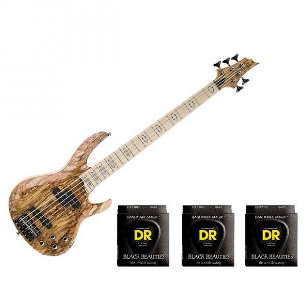 Custom ESP LTD RB-1005 Burled Maple Honey Natural w/3 Sets DR Strings BKB5-45 #1 image