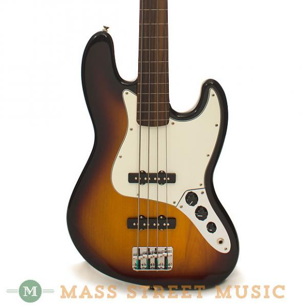 Custom Fender - Standard Jazz Bass Fretless RW - Sunburst #1 image