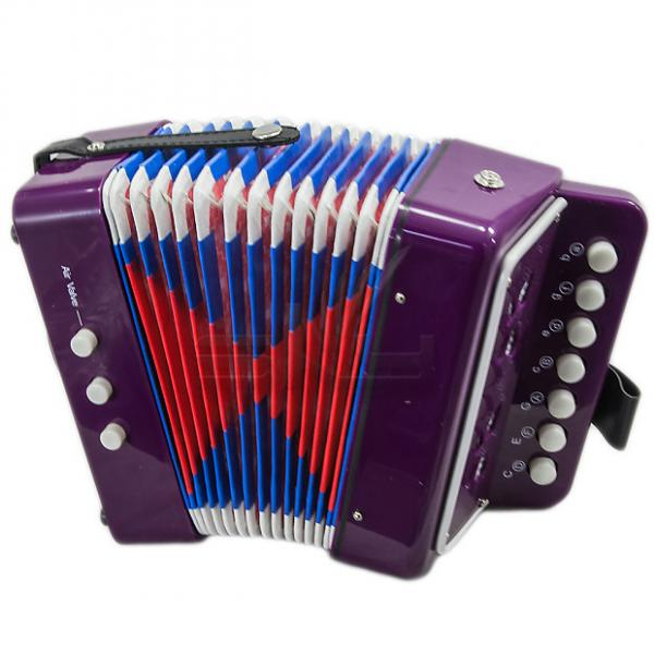 Custom SKY Accordion Purple Color 7 Button 2 Bass Kid Music Instrument High Quality Easy to Play #1 image