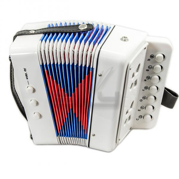 Custom SKY Accordion Pure White Color 7 Button 2 Bass Kid Music Instrument High Quality Easy to Play #1 image