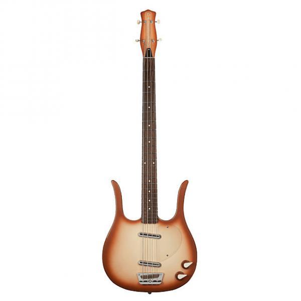 Custom Danelectro 58 Longhorn Electric Bass Guitar - Copper Burst #1 image