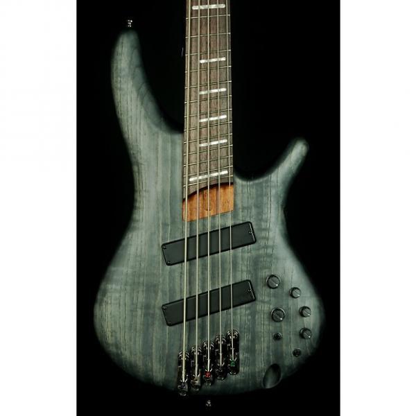 Custom New! 2016 Ibanez SRFF805 Fanned Fret 5-String Electric Bass - Black Satin #1 image