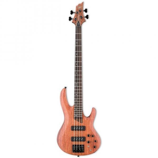 Custom ESP LTD B-1004SE - Bubinga Natural Satin #1 image