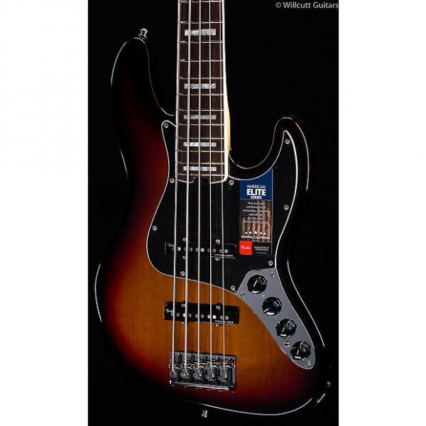 Custom Fender American Elite Jazz Bass V 3-Tone Sunburst (792) #1 image