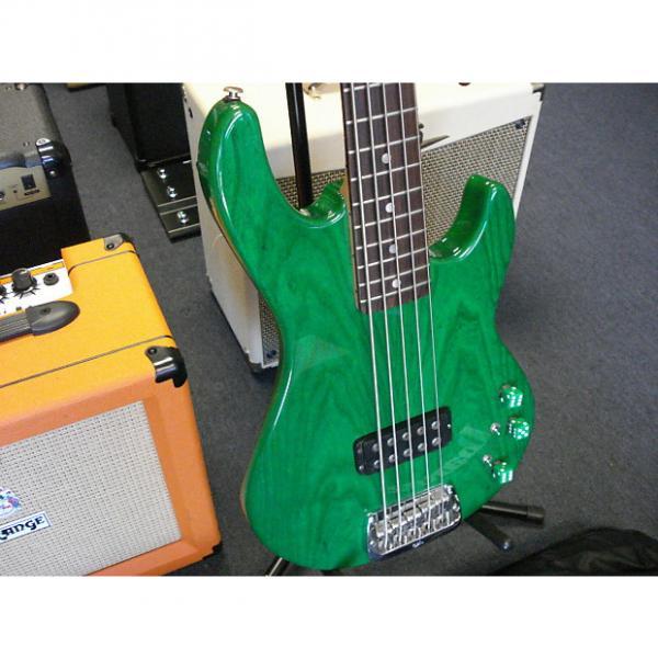 Custom G&L I-1505 USA 5 string bass trans green #1 image