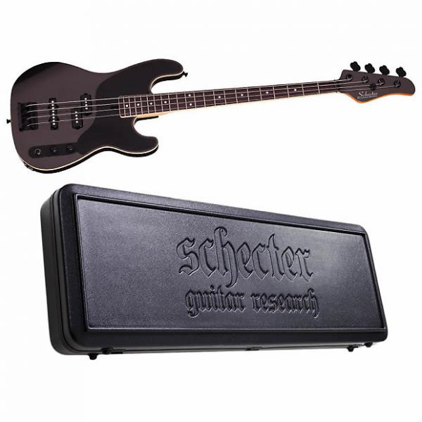 Custom Schecter Michael Anthony Bass Carbon Grey CBG Electric Bass NEW + Schecter Case! #1 image