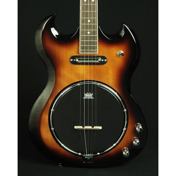 Custom New! Dean Gran Sport 5-String Solid Body Electric Banjo - Tobacco Sunburst #1 image