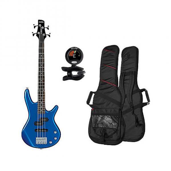 Custom Ibanez GSRM20-SLB Mikro 4 String Bass Guitar - Starlight Blue w/ Gig Bag and Tuner #1 image