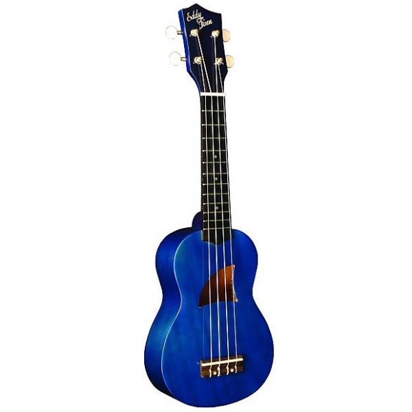 Custom Eddy Finn Ukulele Basswood Soprano Blue #1 image