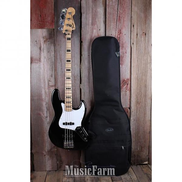 Custom Fender® Geddy Lee Signature Jazz Bass Electric Guitar Black Deluxe Gigbag BSTOCK #1 image