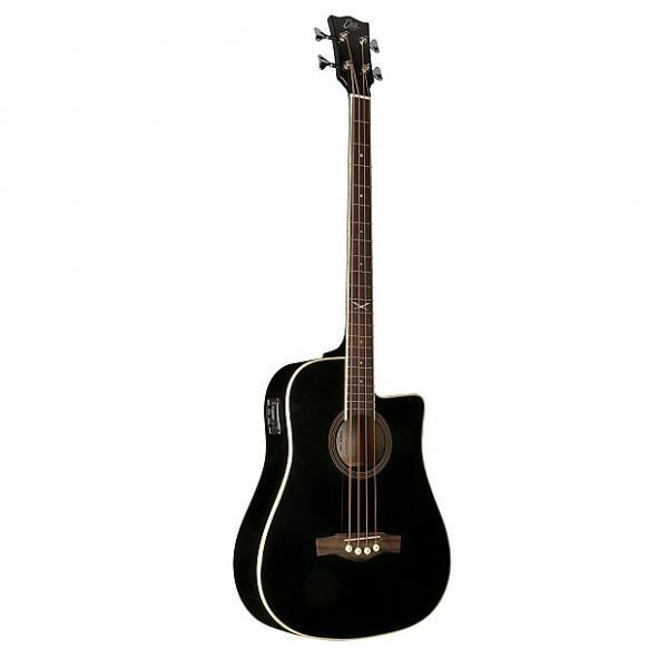 Custom Eko Guitars 06217044 NXT Series Acoustic-Electric Bass - Black #1 image