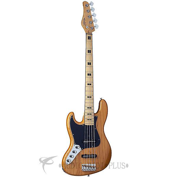 Custom Schecter Diamond-J 5 Plus Maple Fretboard Electric Bass Aged Natural - 2865 - 815447020487 #1 image