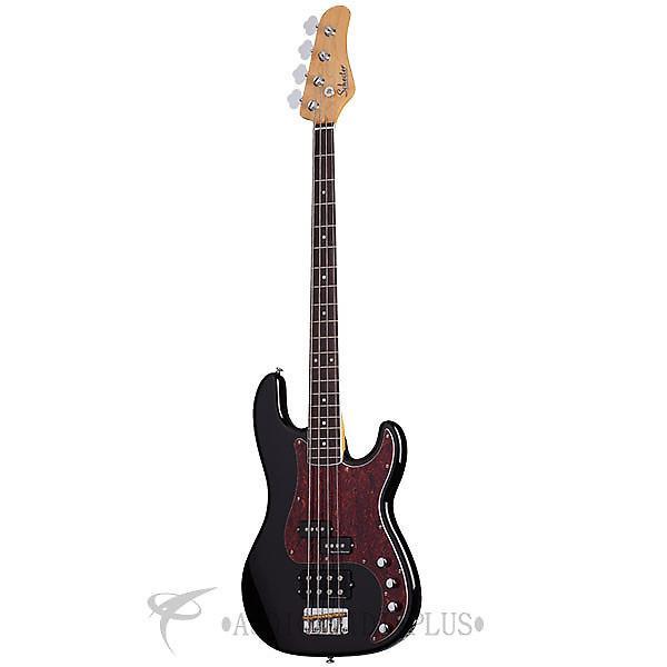 Custom Schecter Diamond-P Plus Rosewood Fretboard Electric Bass Gloss Black - 2859 - 815447020470 #1 image