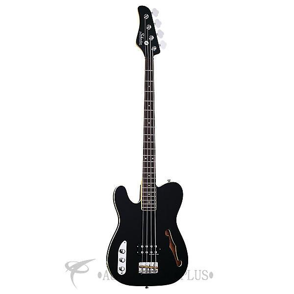Custom Schecter Baron-H Vintage LH Rosewood Fretboard Electric Bass Gloss Black - 2655 - 81544704258 #1 image