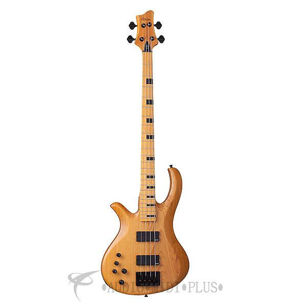 Custom Schecter Riot-4 Session LH Maple Fretboard Electric Bass Aged Natural Satin - 2856 - 81544708065 #1 image