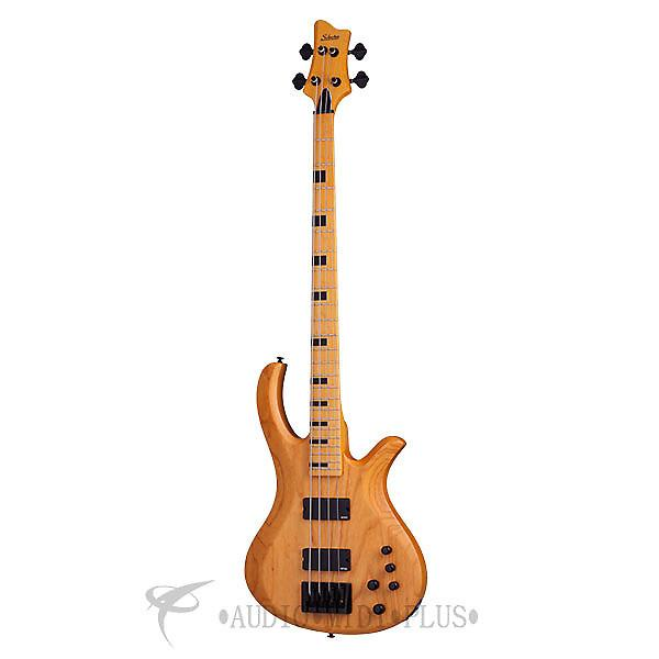 Custom Schecter Riot-4 Session Maple Fretboard Electric Bass Aged Natural Satin - 2852 - 81544708027 #1 image