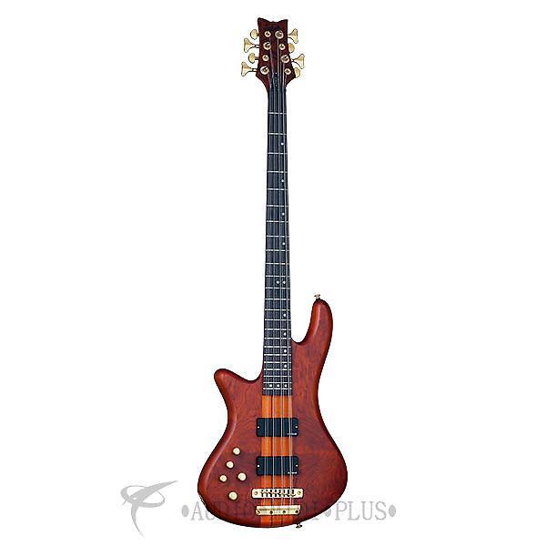Custom Schecter Stiletto Studio-8 LH Rosewood Fretboard Electric Bass Honey Satin - 2741 - 839212004335 #1 image