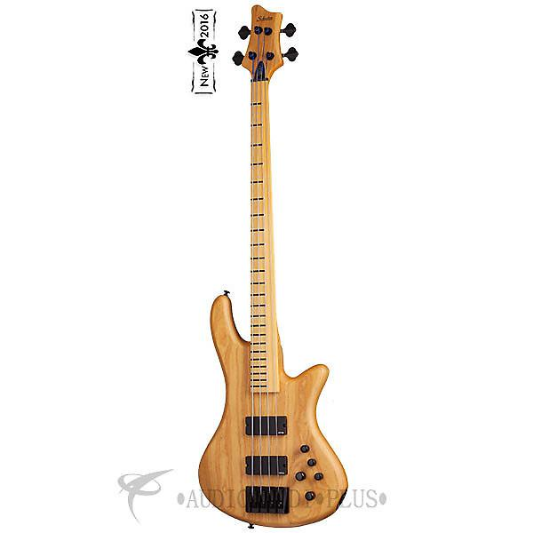 Custom Schecter Stiletto Session-4 FL Maple Fretboard Electric Bass Guitar Aged Natural Satin - 2845 #1 image