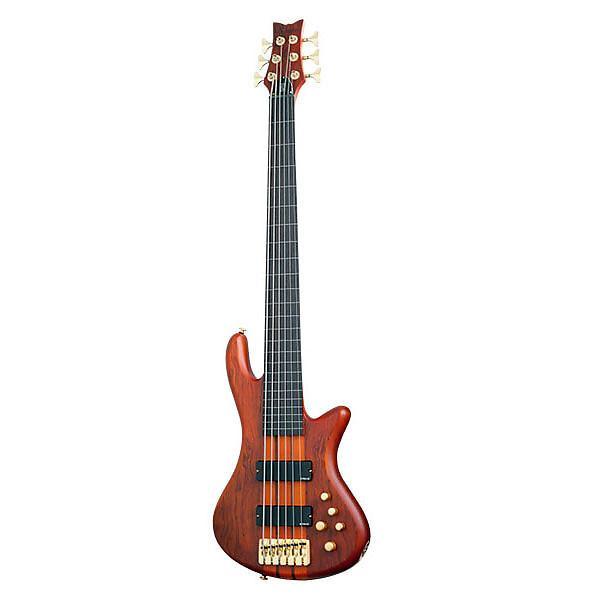 Custom Schecter Stiletto-6 Studio FL Rosewood Fretboard Electric Bass Honey Satin - 2791 - 81544705491 #1 image
