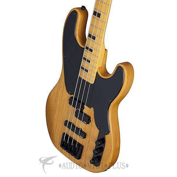 Custom Schecter Model-T Session Maple Fretboard Bass Guitar - Aged Natural Satin - 2848 - 81544701295 #1 image
