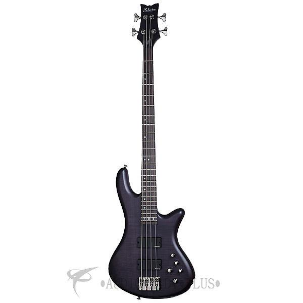 Custom Schecter Stiletto Studio-4 Rosewood FB Electric Bass See-Thru Black Satin - 2711 - 839212008234 #1 image