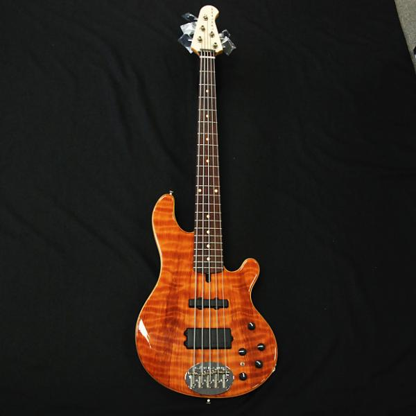 Custom Lakland  USA 55-94 Custom Deluxe Flamed Redwood #1 image