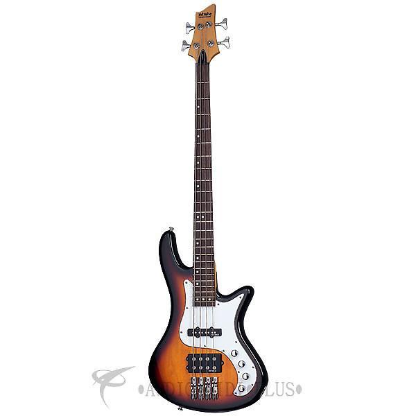 Custom Schecter Stiletto Vintage-4 LH Rosewood Fretboard Electric Bass 3-Tone Sunburst - 2528 - 81544701578 #1 image