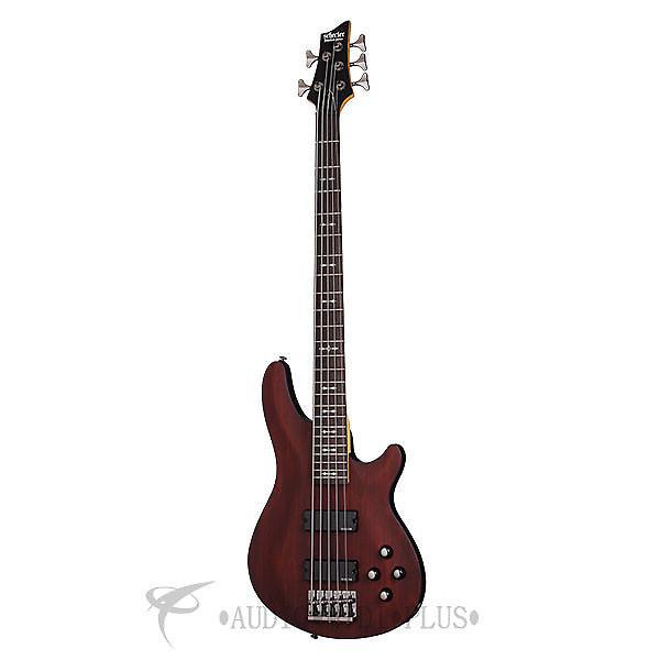 Custom Schecter Omen-5 Rosewood Fretboard Electric Bass Walnut Satin - 2094 - 81544703299 #1 image