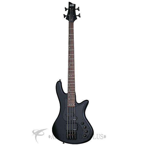 Custom Schecter Stiletto Stealth-4 LH Rosewood Fretboard Electric Bass Satin Black - 2526 - 81544701561 #1 image
