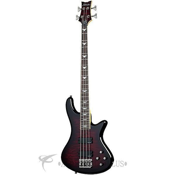 Custom Schecter Stiletto Extreme-4 Rosewood Fretboard Electric Bass Black Cherry - 2500 - 839212001549 #1 image