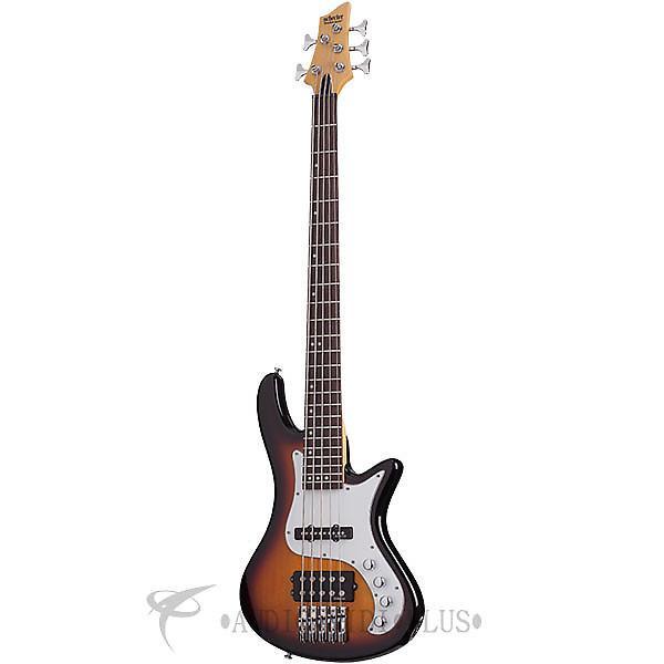 Custom Schecter Stiletto Vintage-5 Rosewood Fretboard Electric Bass 3-Tone Sunburst - 2525 - 815447020081 #1 image