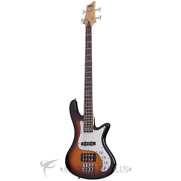 Custom Schecter Stiletto Vintage-4 Rosewood Fretboard Electric Bass 3-Tone Sunburst - 2524 - 81544701547 #1 image