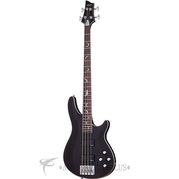 Custom Schecter Damien Platinum-4 Rosewood Fretboard Electric Bass Satin Black - 1200 - 81544706719 #1 image
