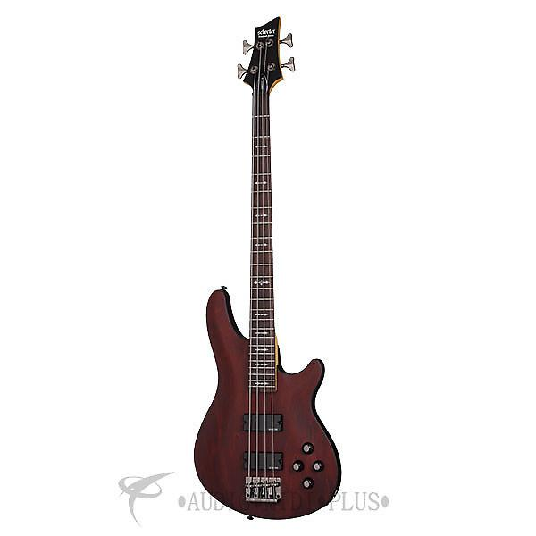 Custom Schecter Omen-4 Rosewood Fretboard Electric Bass Walnut Satin - 2091 - 81544703268 #1 image