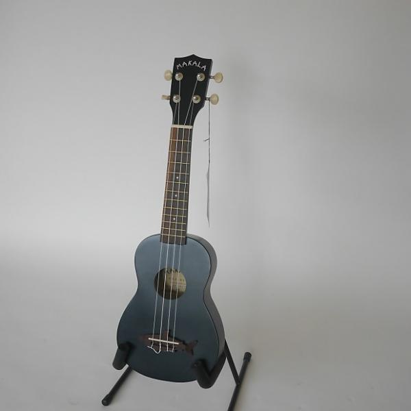 Custom Makala Shark Bridge Soprano Ukulele 2016 Matte Black #1 image