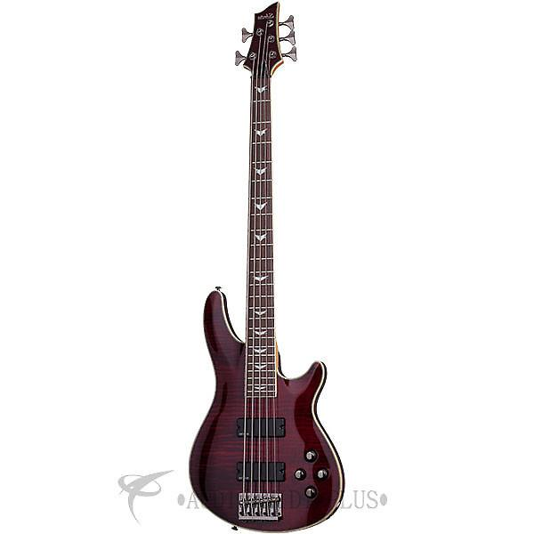 Custom Schecter Omen Extreme-5 LH Rosewood Fretboard Electric Bass Black Cherry - 2047 - 839212001532 #1 image