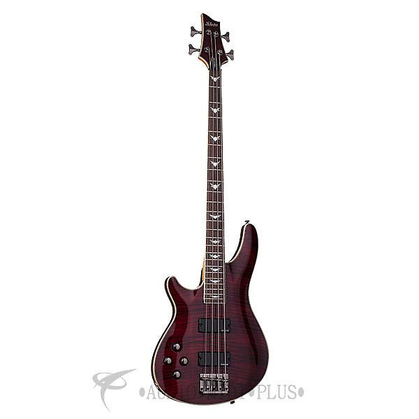 Custom Schecter Omen Extreme-4 LH Rosewood Fretboard Electric Bass Black Cherry - 2046 - 839212001525 #1 image
