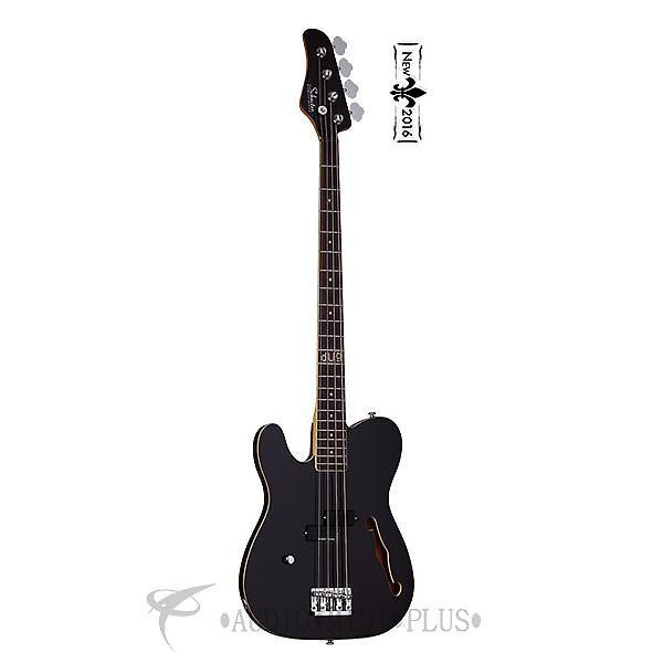 Custom Schecter Dug Pinnick Baron-H Left Hand Rosewood FB Electric Bass Gloss Black - 263 - 815447021620 #1 image